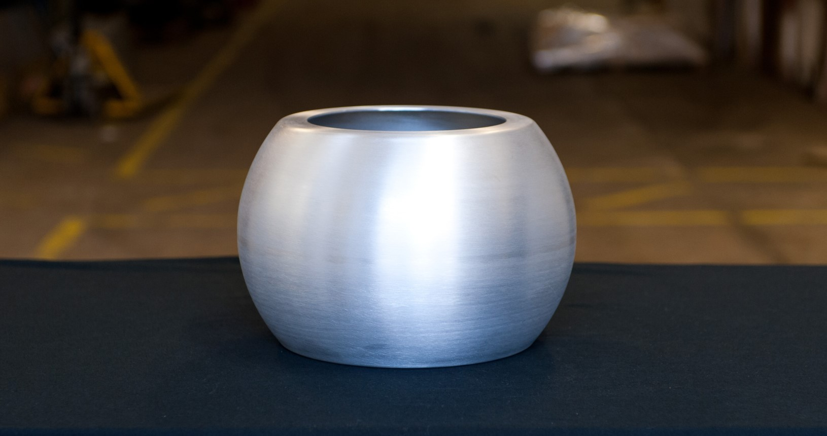 Small Metal Pot That Has Been Spun