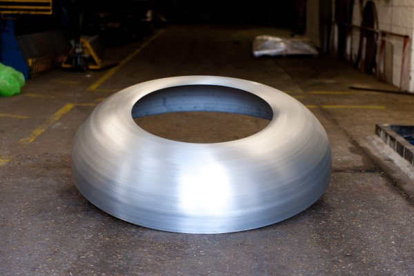 Large Disc Created Through Metal Spinning Techniques