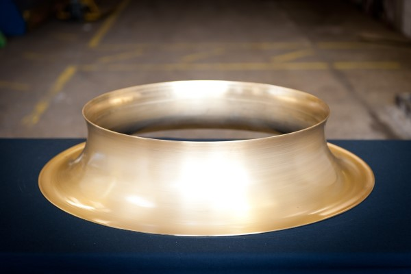A Brass Ring Created By Metal Spinning Techniques